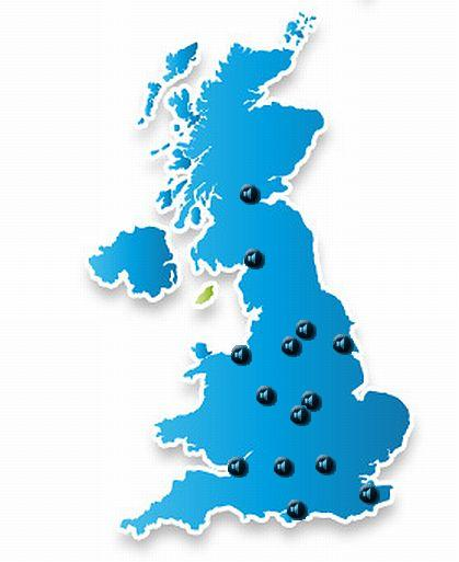Map Of Uk Mainland.Uk Samples Soundscape